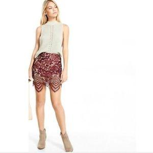 ✨nwot✨burgundy lace skirt
